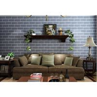 PVC Wall paper 3D Deep Embossed Brick Stone Designs Wallpaper