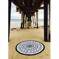 2015 hot sales cotton round beach towels manufacturer in soft feel china