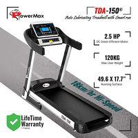 Powermax Fitness TDA-150 (2.5 HP), Smart Run Function, Auto Lubrication & Auto Inclination Motorized