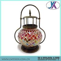 Replacement Chinese decoration solar metal mosaic glass antique-lantern thumbnail image