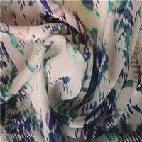 Printed georgette fabric, made of 100% polyester, soft, drapability, for dress,wedding,scarf,garment