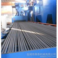 Dingtai roller conveyor through type steel bar shot blasting machine