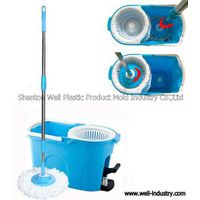 Foot-Tread Double Devices Spin Mop