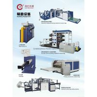 Auxiliary machine for woven bags