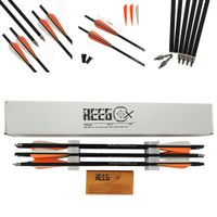20 Inch Hunting Archery REEGOX Bio Carbon Crossbow Bolts Arrow With 4 inch vanes and Replaced Arrowh