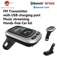 In-Car Wireless Bluetooth Receiver & FM Transmitter