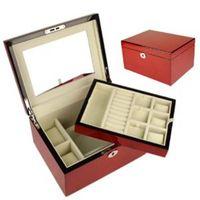 luxury custom logo wooden jewelry box for gift box