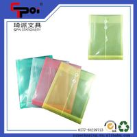 Wholesale Stationery PP Transparent File Customized File Folder With String closure thumbnail image