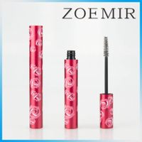 Wholesale aluminum fancy rose eye lasher mascara container makeup brand