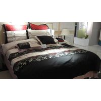 Kuwait market 6pc single size embroidery comforter set