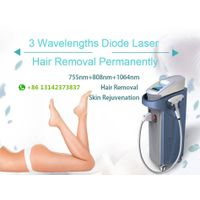 808nm 755nm 1064nm triple wavelength diode laser hair removal machine depilation
