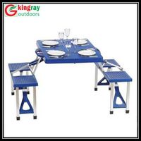 Folding camping table and chair