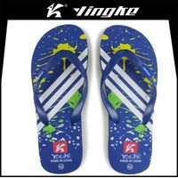Wholesale cheap fashion beach eva mens custom printed flip flops slippers