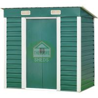 Theodore Sheds Company metal garden sheds with pent roof