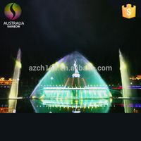 Artificial Musical Water Floating Fountain Supplier With Colorful Lights