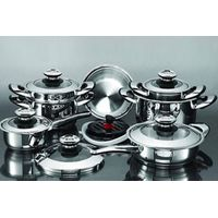 Frying pan and other kitchenware 16Pcs Stainless steel cookware set thumbnail image