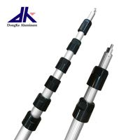 Long length aluminum telescopic pole for heavy duty
