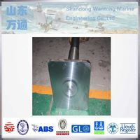 Marine forged steel rudder pintle rudder stock for vessels