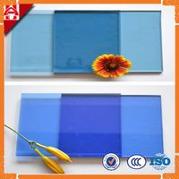 4mm 5mm 6mm ford blue dark blue tinted float glass