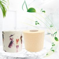 Factory Wholesale Virgin Bamboo Pulp Toilet Tissue Paper Roll for Household thumbnail image