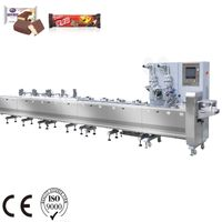 Servo control high speed cereal bar High Quality chocolate line flow wrapping machine pillow packing