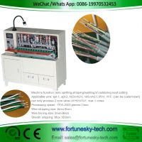 Semi-Automatic H05VV-F Corewire Stripping Tinning Machine