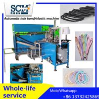 Fully automatic hair elastic/band making machine