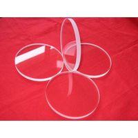 Thin small round quartz glass plate thumbnail image