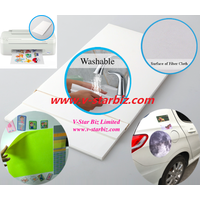 removable car sige sticker,fridge sticker,inkjet photo paper,reusable printing material