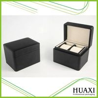 Wholesale black luxury wooden wrist watch box packaging