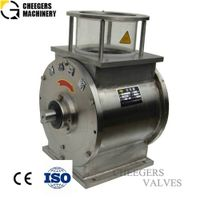 Rotary airlock valve for calcium carbonate conveying system thumbnail image