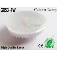 Ultra Thin 4W AC90-240V SMD2835 GX53 LED Light Bulb Lamps, LED GX53 220V Warm/Cold White LED Bulb