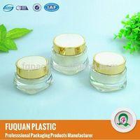 Plastic cap material and acrylic plastic type cream jar