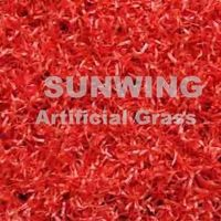Cheap RED Fake Grass Carpet for landscaping