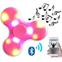 Hot sale promotional gift new toy fidget spinner mini Hand spinner bluetooth speaker with led light
