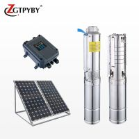 1.1kw 1.5hp 72m head dc solar deep well submersible pump complete system borehole pump price thumbnail image