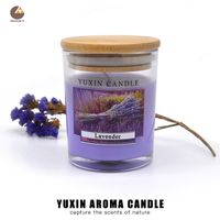 Beautiful Scented Art Candles Glass Jar Aroma Candle