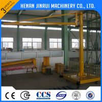 Portable 0.5 ton Mobile Hoist Swing Arm Jib Crane Price