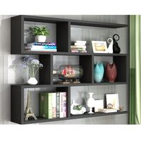 Modern wooden wall mount bookcase BS001 thumbnail image