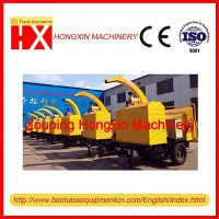 Hot selling diesel engine mobile wood chipper (brush chipper) tree branch cutting machine
