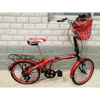 High quality strong frame folding bike/easy ride convenience city bike with basket/factory wholesale