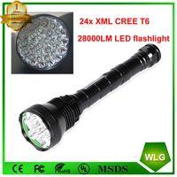 Powerful 24 x XM-L T6 24T6 LED Aluminum Flashlight 38000 Lumens Hunting Torch thumbnail image