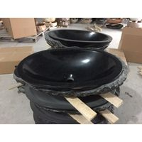 black granite bathroom sinks, granite sinks, granite vessel sinks