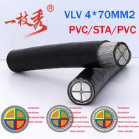 0.6/1kV Four-Core aluminium Conductor PVC Insulation Steel Wire Armoured Power Cable