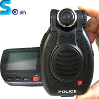 SOWIN-I 16GB/32GB police video body worn camera with 360 degree rotatable camera and screen