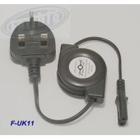 British regulatory portable retractable laptop power cord AC power cord UK plug 8 Suffix +Wholesales