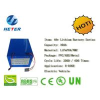 48v30Ah E-Bike Lithium Battery; EV/Scooter/Moped Battery; LiFePO4/NMC Battery Series; 48v Li-ion Bat