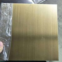 Copper Plate Hairline Bronze Color Stainless Steel Sheet thumbnail image