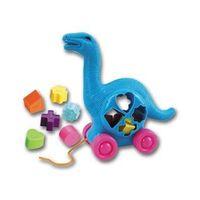 1285N Dinosaurs Shape Sorter Toy - Brontosaurus, Educational Toy, Developmental Toy
