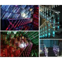 crystal glass material k9 k5 acrylic stair railing,indoor decorative railing